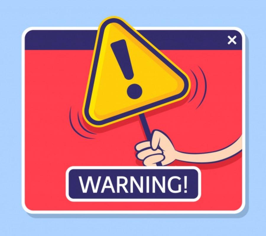 Laptop Warnung
